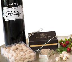 Windsor Holiday Cabernet Etched Wine Gift Basket
