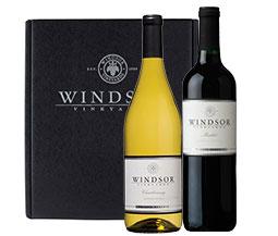 Windsor Winemaker's Choice Mixed 2-Bottle Gift Set - Wood Box