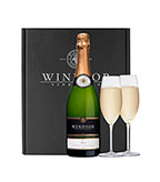 Windsor Brut and Flutes Gift Set - Black Box