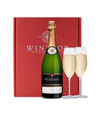 Windsor Brut and Flutes Gift Set - Red Box