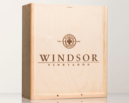 Windsor Vineyards 3 Bottle XL Wood Box