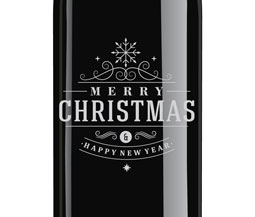 2015 Windsor Merry Christmas Etched Cabernet Sauvignon, Paso Robles, Private Reserve, 750ml