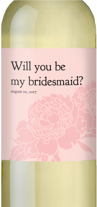 Bridesmaid? Custom Wine Label
