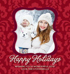 Happy Holidays Photo Label