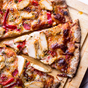 Mushroom and Red Pepper Pizza