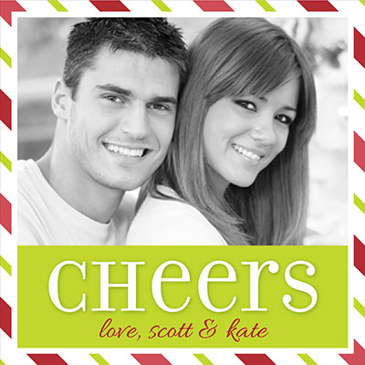 Candy Cane Cheers Photo - Custom Label