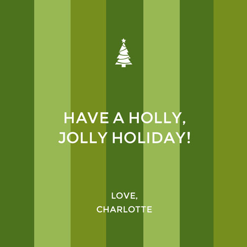 Have a Holly Jolly Green Stripes - Custom Label