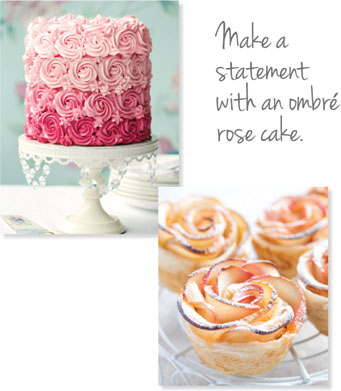 Make a statement with an ombre rose cake