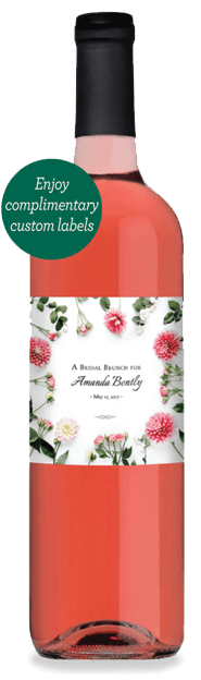 Rose Bottle - Enjoy complimentary custom labels