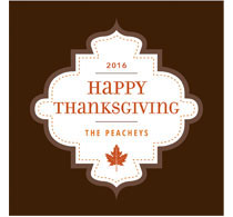Happy Thanksgiving Brown Label