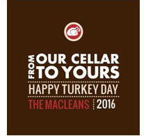 From Our Cellar to Yours - Happy Turkey Day
