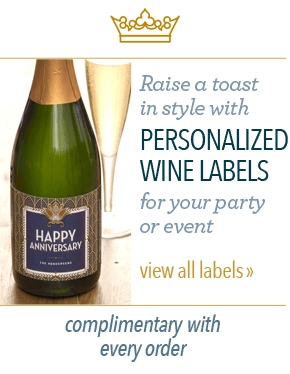 Raise a toast in stylke with personlized wine labels for your party or event. - View all labels - Complimentary with every order