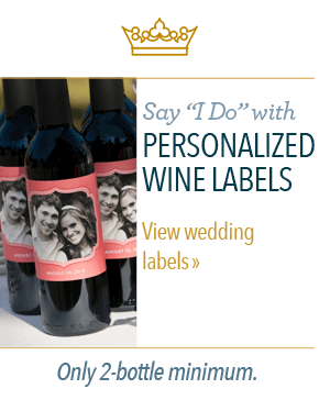 Say 'I Do' with personalized wine labels. - View wedding labels - Only 2-bottle minimum.